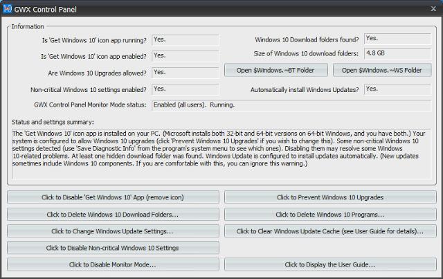 gwx1 - Impedir actualización a Windows 10