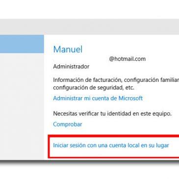 Cómo cambiar a una cuenta Microsoft a cuenta local en Windows 10