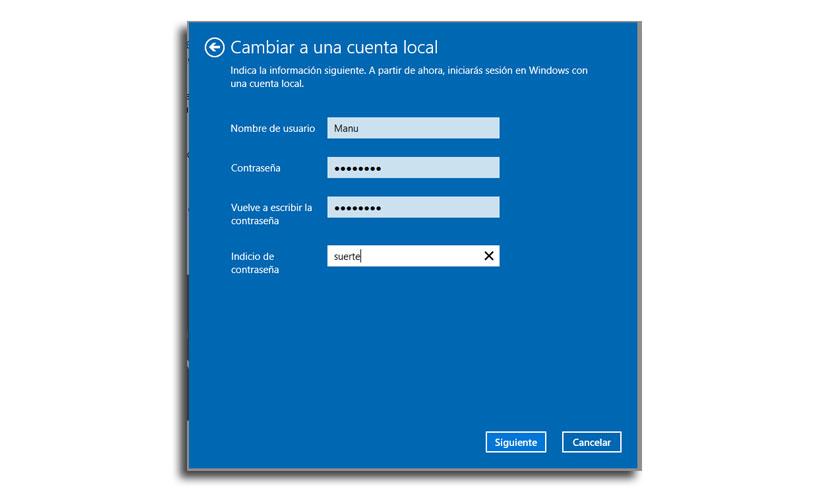 cambio a cuenta local3 - Cómo cambiar a una cuenta Microsoft a cuenta local en Windows 10