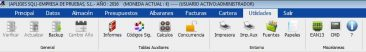 Botonera Utilidades 366x52 - Sistema de Menús & Traza Documental