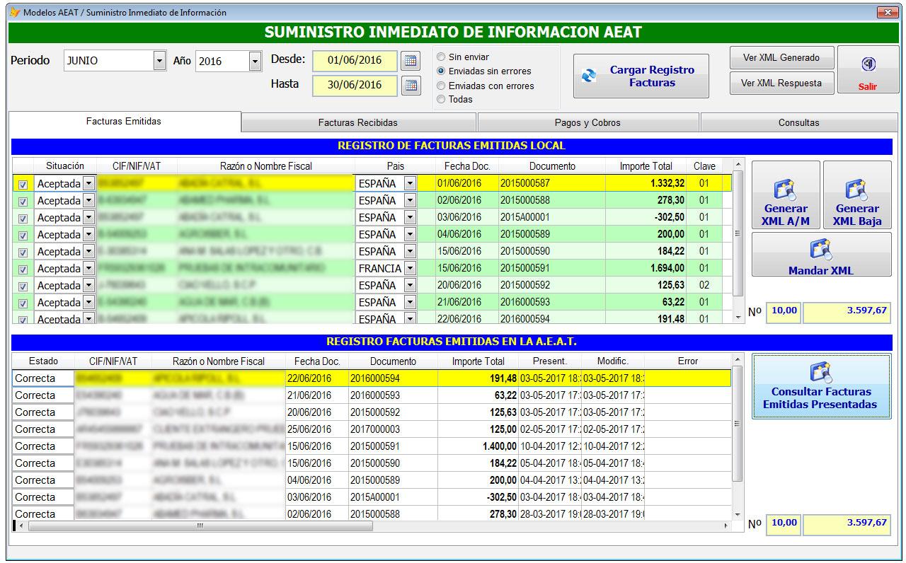sii aeat1 - Adaptado nuestro software contable al SII