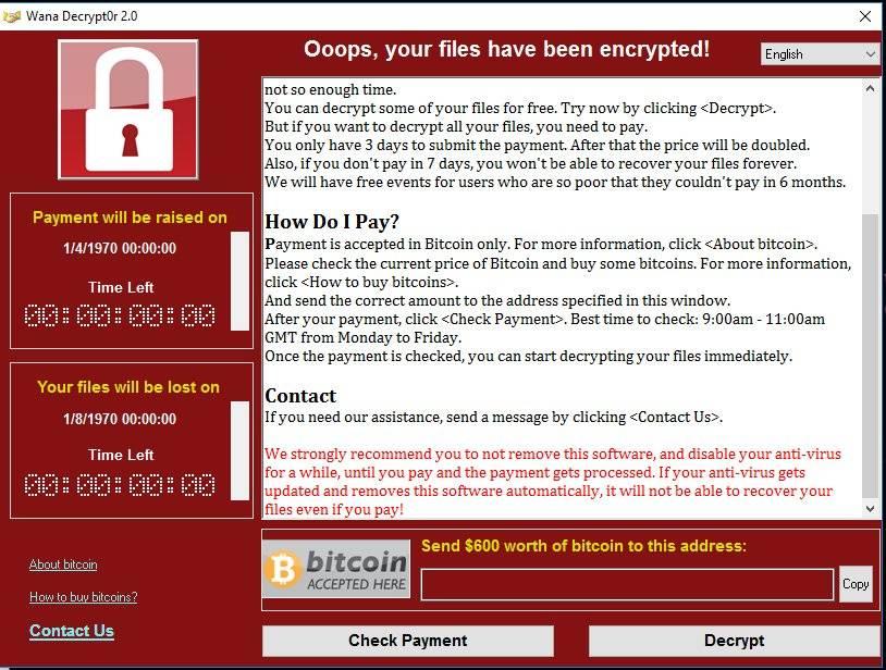 wannacry 2 - Oleada de ransomware afecta a multitud de equipos - WannaCry